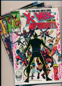 MARVEL 4 issue limited series The X-MEN and the Micronauts #1-4 VF (PF64)