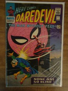 Marvel Comics Daredevil #17 Stan Lee Story Spider-man (tear on cover Coupon cut)