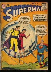 Superman #121 GD- 1.8 DC Comics