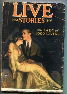 Live Stories May 1924-Enoch Bolles-Woman Drug Addict-Spicy Pulp-RARE!!!!