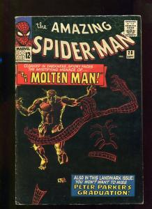 AMAZING SPIDER-MAN  #28  6.5  (FINE+)  OW/W PGS  SUPER KEY 1ST MOLTEN MAN