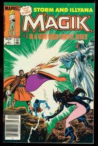 MAGIK #1 '83-STORM & ILLYANA-XMEN-MARVEL COMIC NEWSTAND VF/NM