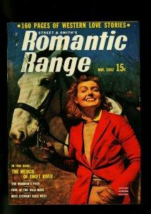 Romantic Range November 1942- Western Romance Pulp - photo cover- FN