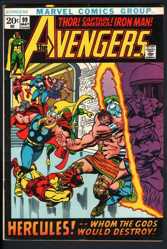 AVENGERS #99-BARRY SMITH-Thor-captain america-1972-VF-