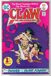 CLAW the UNCONQUERED #1, FN+, Ernie Chan, Sword, 1975, more in store