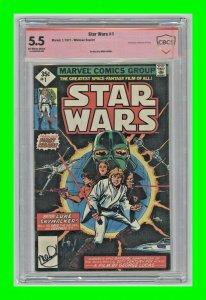 Star Wars #1 1977 Marvel Whitman Reprint Signed by Mark Hamill CBCS 5.5