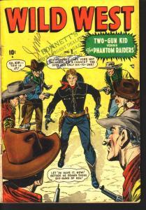 WILD WEST #1 ARIZONA ANNIE TWO-GUN KID TEX TAYLOR 1948 VG