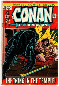 Conan the Barbarian #18 (Marvel, 1972) VG