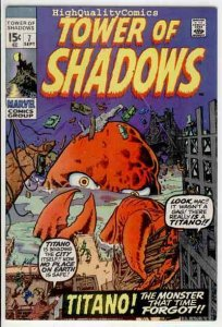 TOWER of SHADOWS #7, FN, Barry Smith, Wally Wood, 1969, more Horror in store
