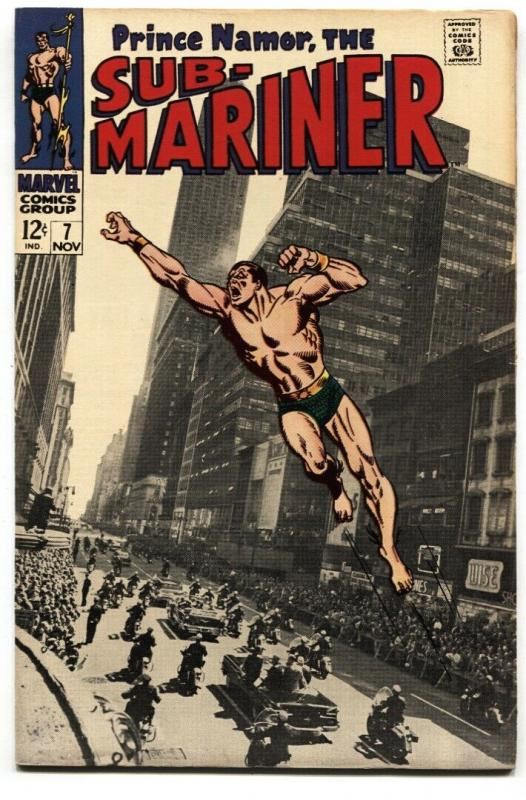 SUB-MARINER #7 1968-PHOTO COVER-MARVEL 12 CENT FN+