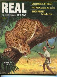 Real For Men 3/1953-pulp-Vera Miles cheesecake-Sam Savitt-WWII-Korea-VG