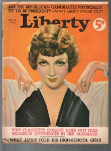 Liberty 5/16/1936-Claudette Colbert-Tchetchet-Jack Dempsey-pulp fiction-FR