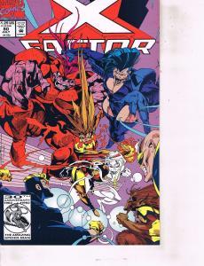 Lot Of 6 X Factor Marvel Comic Book #80 86 87 88 89 99 Iron Man  AH8