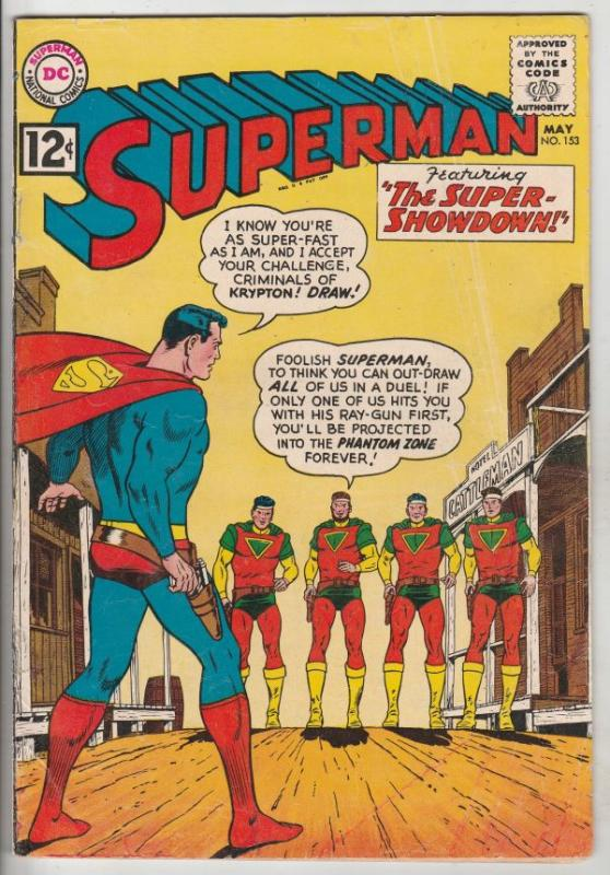 Superman #153 (May-62) VG/FN Mid-Grade Superman, Jimmy Olsen,Lois Lane, Lana ...
