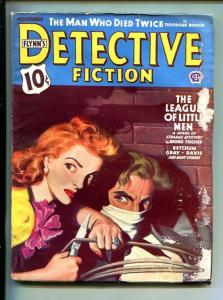 FLYNN'S DETECTIVE FICTION-NOV 1943-MYSTERY-PULP-BOUND-GAGGED-good minus