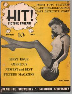 Hit! Picture Pageant #1 3/1942-1st issue-Dona Drake-cheesecake-VG