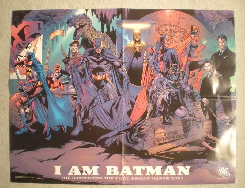 I AM BATMAN Promo Poster, Harley Quinn, 22x17, 2009, Unused,more Promos in store