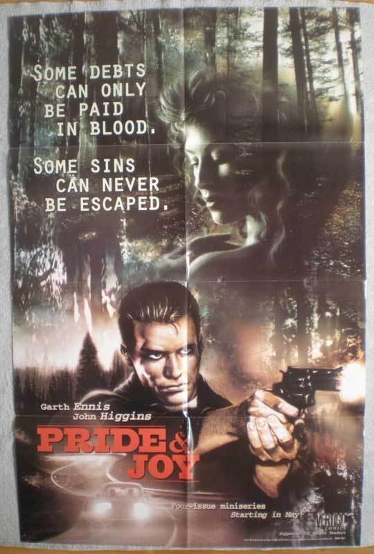 PRIDE AND JOY Promo poster, Garth Ennis, 22 x 34, 1997, Unused