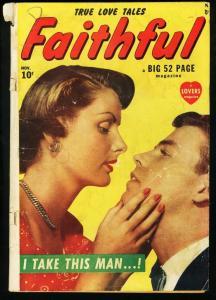 FAITHFUL #1-1949 ATLAS ROMANCE COMIC-PHOTO COVER G+