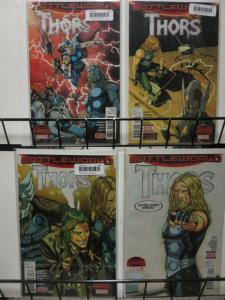 THORS (2015) 1A-4A  Secret Wars : BattleWorld COMICS BOOK