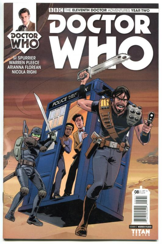 DOCTOR WHO #8 C, NM, 11th, Tardis, 2015, Titan, 1st, more DW in store, Sci-fi