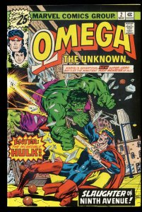 Omega the Unknown #2 VF/NM 9.0 Incredible Hulk!