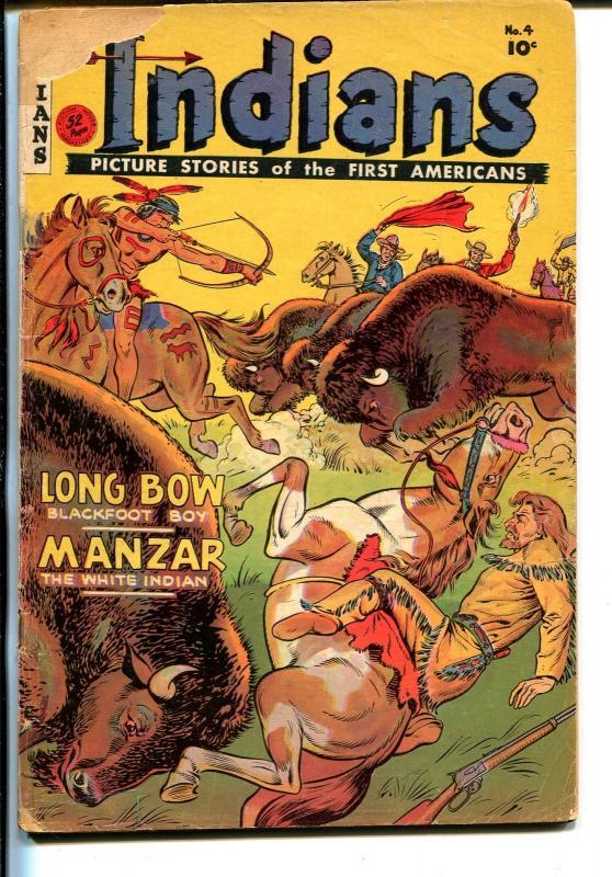 Indians #4 1950-Fiction House-Long Bow-Manzar-G
