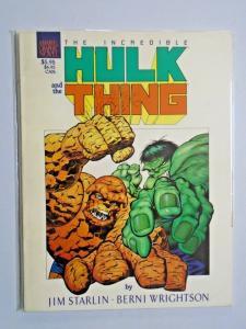 Incredible Hulk and the Thing The Big Change #1 graphic novel 8.0 VF (1987)