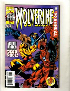 Wolverine 1999 Annual NM 1st Print Marvel Comic Book Deadpool X-Men X-Force HY1