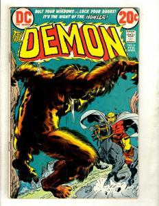 Lot Of 4 The Demon DC Comic Books # 6 FN 10 VG 12 VG 13 FN Jack Kirby GK5