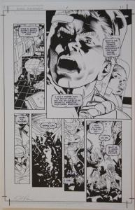 DAVID ROSS / ANDREW PEPOY  original art, ALIENS XENOGENESIS #1 pg 11, 11x17