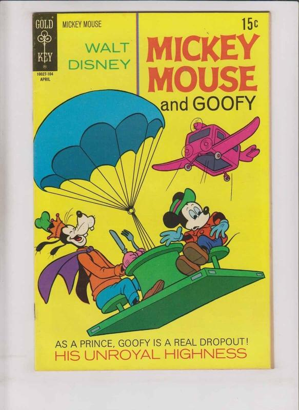 Walt Disney's Mickey Mouse #129 VF+ april 1971 - goofy - his unroyal highness