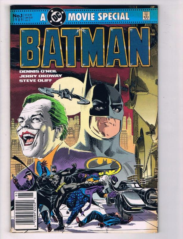 Batman # 1 FN/VF A Movie Special Comic Book Adaptation DC Comics Joker Robin J62
