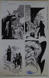 RON FRENZ / SAL BUSCEMA original art, BLACK KNIGHT #1 pg 5, 2010,11x17, Wizard