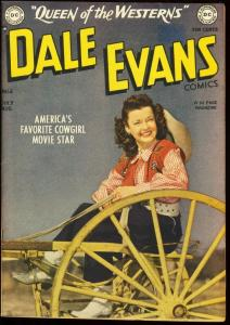 DALE EVANS #6-PHOTO COVER-DC-TOTH WESTERN ART 1949 VF-
