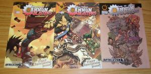 Cannon Busters #0 & 1 VF/NM complete series + variant LESEAN THOMAS udon book