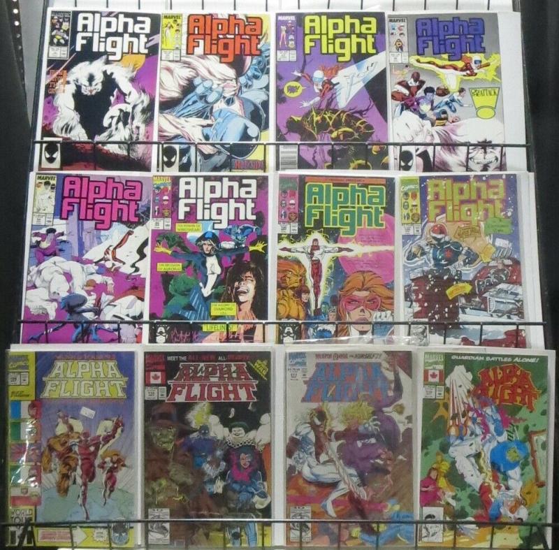 ALPHA FLIGHT SAMPLER! 28 ISSUES! Vol.1, Marvel 1983! John Byrne!WOLVERINE!