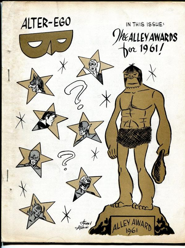 Alter-Ego #4 1962-1st offset printed issue-final Jerry Bails-Alley Awards-VG