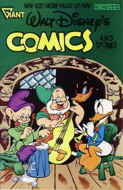 Walt Disney's Comics and Stories #543, VF+ (Stock photo)