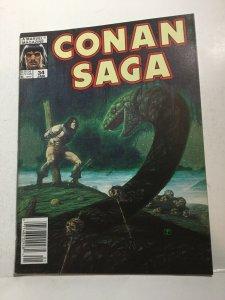 Conan Saga 34 Fn Fine 6.0 Marval Magazine