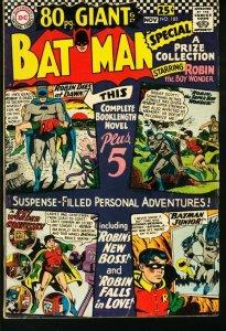 BATMAN #185-1966-DC-80 PAGE GIANT-very good VG