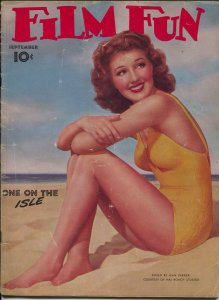 Film Fun 9/1940-Jean Parker swimsuit photo cover-movie stars-showgirls-FR