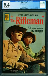 Rifleman #9 CGC 9.4 Chuck Connors 1961 Dell-2001738001