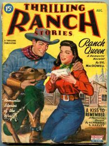 Thrilling Ranch Stories August 1945- Syl MacDowell- Henrietta Harvey VG