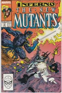 New Mutants #79 FN 1989 Stock Image