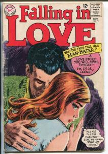 Falling In Love #79 1965-DC-love triangle-spicy romance art-Man-Hater-G/VG