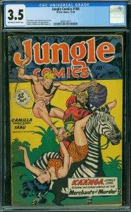 Jungle Comics #108 (1948) CGC 3.5