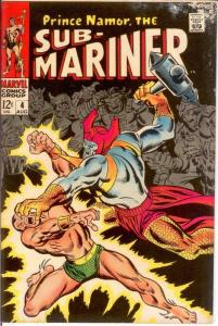 SUB MARINER 4 VG Aug. 1968 COMICS BOOK
