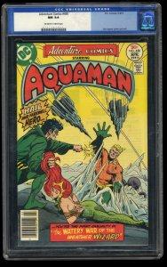Adventure Comics #450 CGC NM 9.4 Off White to White DC Aquaman!