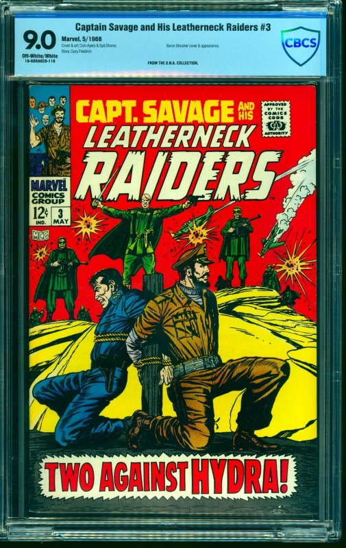 Captain Savage and his Leatherneck Raiders #3 CBCS VF/NM 9.0 Off White to White